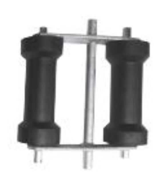 150mm Double  Keel Roller Assembly