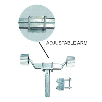 Single Wobble Roller Kit - Adjustable Arms - Pair